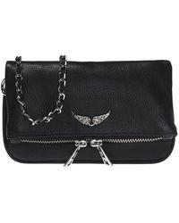Zadig & Voltaire Rock Nano Leather Crossbody Bag - Black