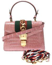 Gucci 'sylvie' Shoulder Bag - Pink