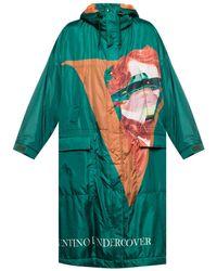 Undercover Printed Coat Green