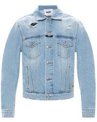 MSGM - Denim Jacket - Lyst