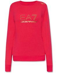 EA7 Logo-printed Sweatshirt - Pink