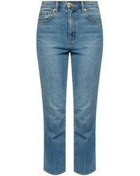 Tory Burch Five Pocket Jeans - Blue