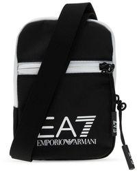 EA7 Branded Shoulder Bag Black