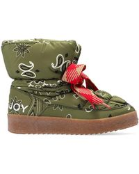 Khrisjoy Snow Boots With Paisley Motif - Green