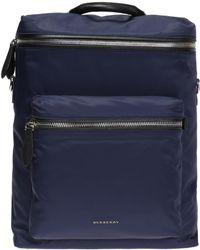 e45e150090e4 Lyst - Burberry Canvas Backpack in Blue for Men