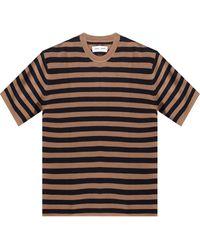 Samsøe & Samsøe Striped T-shirt - Brown