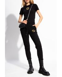 Versace Jeans Couture Joggers With Logo - Black