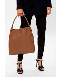 Saint Laurent 'hobo' Shoulder Bag Brown