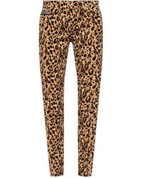Versace Jeans Couture - Leopard-printed Jeans - Lyst