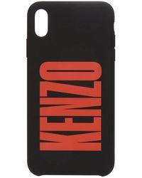 KENZO Iphone X/xs Silic Logo Case - Black