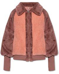 UGG Faux-fur Jacket - Pink
