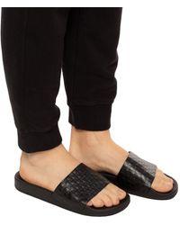 Balmain 'calypso' Branded Slides - Black