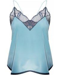 Zadig & Voltaire Silk Sleeveless Top - Blue