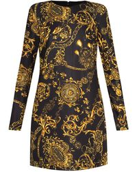 Versace Jeans Couture Baroque-print Dress - Yellow