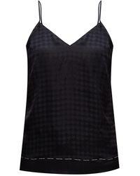 Balmain Silk Pyjama Top Black