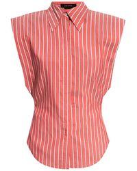 Isabel Marant - Sleeveless Shirt Red - Lyst