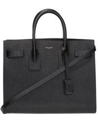 Saint Laurent 'sac De Jour' Shoulder Bag With Logo - Black