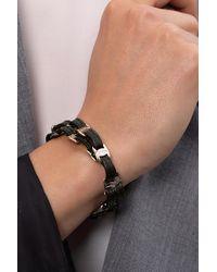 Ferragamo Leather Bracelet Black