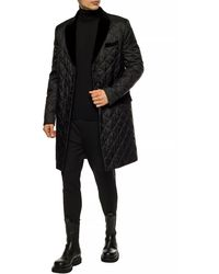 Billionaire Quilted Coat With Pockets - Black
