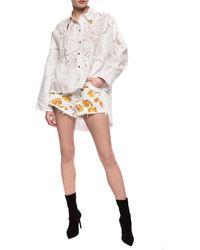 Versace Jeans Couture Denim Shorts - White