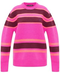 Acne Studios Striped Jumper - Pink