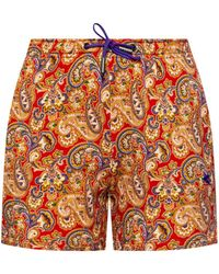 Etro Patterned Shorts Multicolour - Red