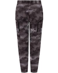 White Mountaineering Patterned Pants Gray