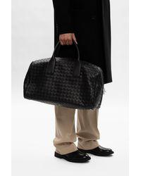 Bottega Veneta 'intreciatto' Weave Duffel Bag Black