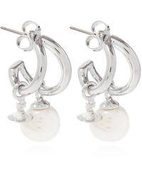 Vivienne Westwood Earrings With Logo - Metallic