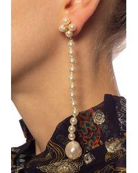 Loewe Drop Earrings Gold - Metallic