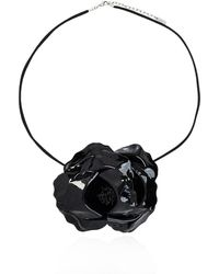 Saint Laurent Embellished Choker Black