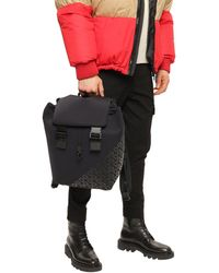 Dolce & Gabbana Millennials Logo Backpack In Neoprene With Rubberized Dg - Black