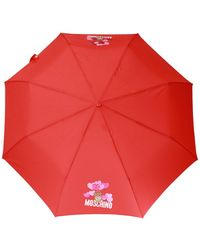 Moschino Printed Umbrella Red