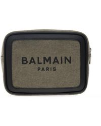 Balmain Belt Bag With Logo Green