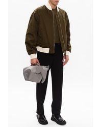 Loewe Wool Pleat-front Trousers - Black