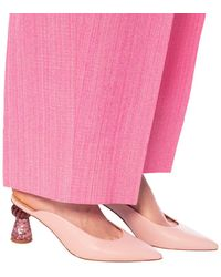 Jacquemus Maceio Mules With Heels - Pink