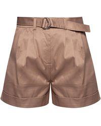 Samsøe & Samsøe Cotton Shorts Brown