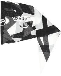 Off-White c/o Virgil Abloh Shawl With Logo - Grey