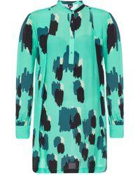 Just Cavalli - Geometric Print Shift Dress - Lyst