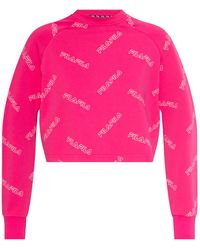 Fila Sweatshirt With Logo Pink