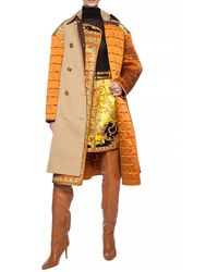 Versace Belted Trench Coat Beige - Natural