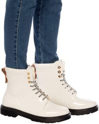 See By Chloé Lace-up Rain Boots White