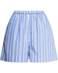 Samsøe & Samsøe Striped Shorts - Blue