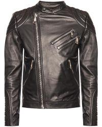 ac1a1aeb77 Men's Philipp Plein Leather jackets Online Sale - Lyst