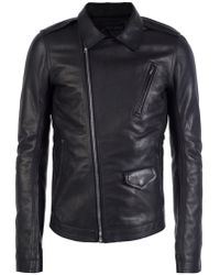 Rick Owens - Leather Jacket With Epaulettes - Lyst