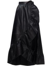 Zimmermann Leather Skirt - Black