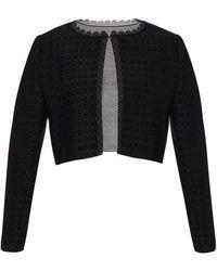 Alaïa Embroidered Cardigan Black