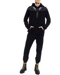 Marcelo Burlon Men's Wings Hoodie Black