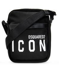 DSquared² Shoulder Bag With Logo - Black