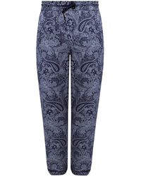 Etro Patterned Joggers - Blue